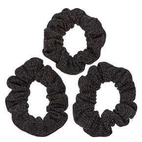 Black Glittery Hair Scrunchies,