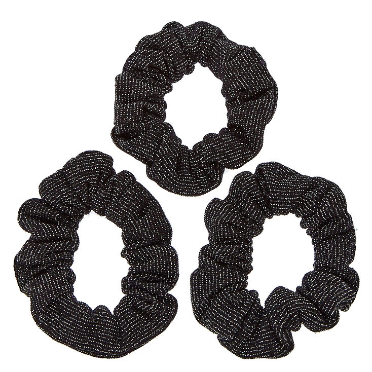Black Glittery Hair Scrunchies,