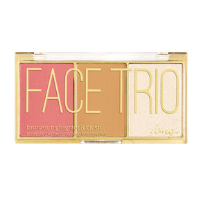 Bronzer, Highlighter and Blush Face Trio Palette,