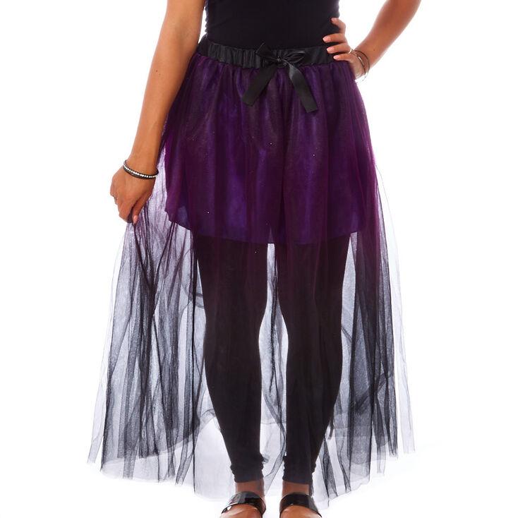 Ombre Purple Long Tutu Skirt