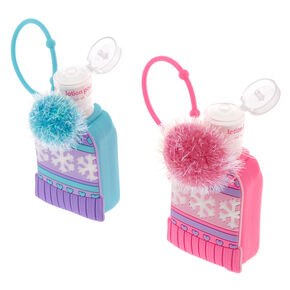 Pink Winter Pom Hat Holder with Strawberry Scented Hand Lotion,