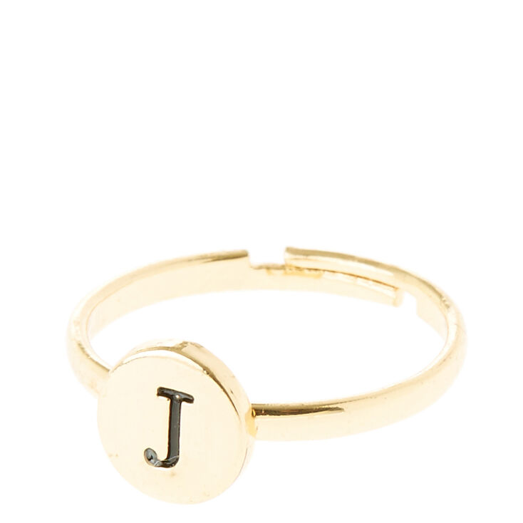 B Letter In Gold Ring Gold Circle J Initial ...