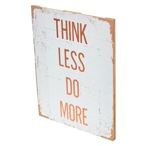 Think Less Do More Wall Art,