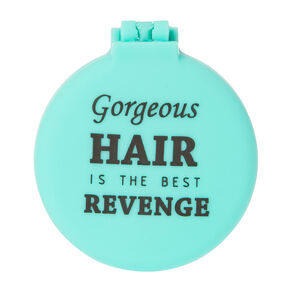 Gorgeous Hair is the Best Revenge Turquoise Pop Up Hair Brush,