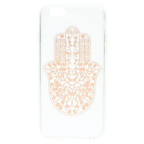 Rose Gold Hamsa Hand Clear Phone Case,