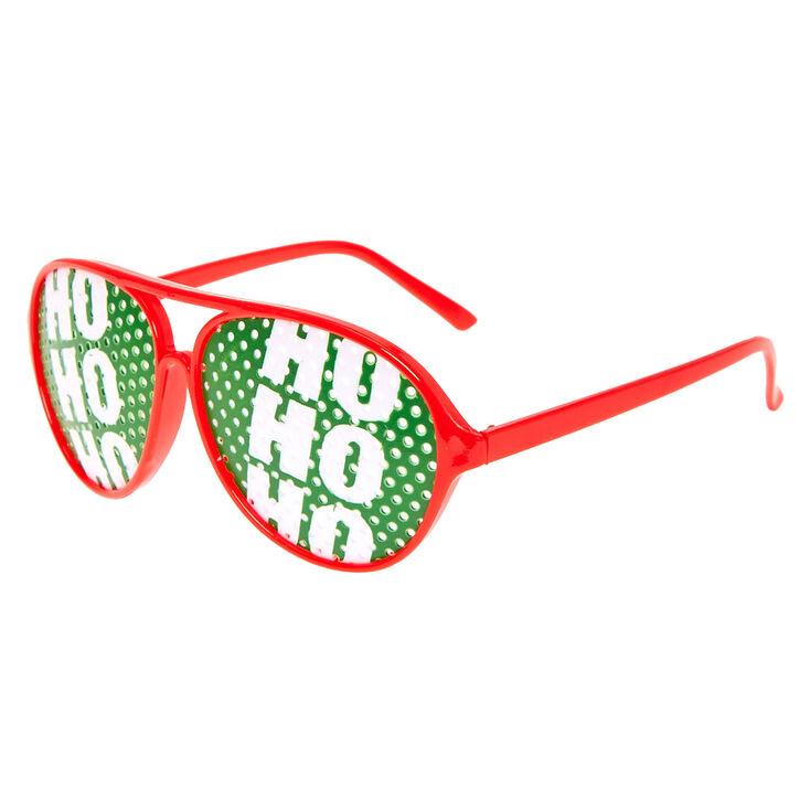 Ho Ho Ho Pinhole Aviator Glasses,