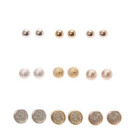 Metallic Glitter Stud Earrings,