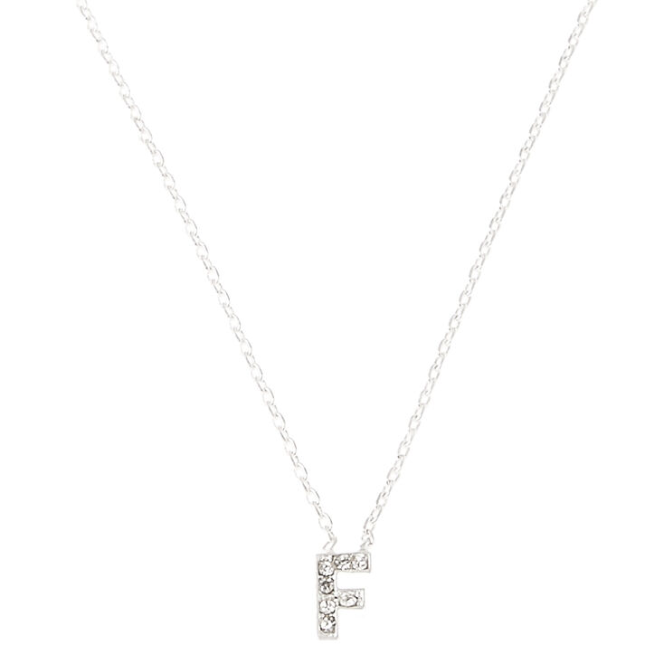 F Pendant Initial Necklace,