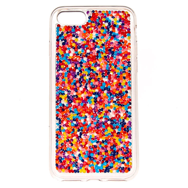 clear silicone rainbow sprinkles phone case claire 39 s ca. Black Bedroom Furniture Sets. Home Design Ideas