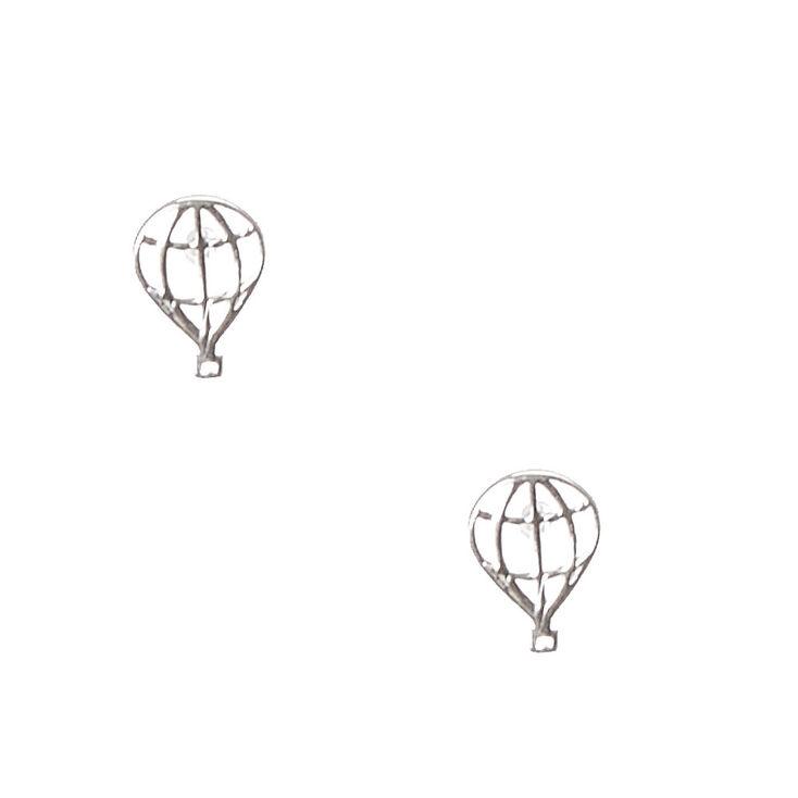925 Sterling Silver Hot Air Balloon Earrings,