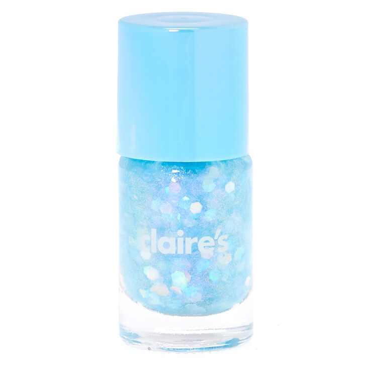 Blue Pastel Glitter Nail Polish
