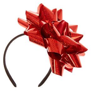 Big Red Confetti Bow Headband,