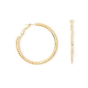 50MM Rhinestone Hoop Earrings,