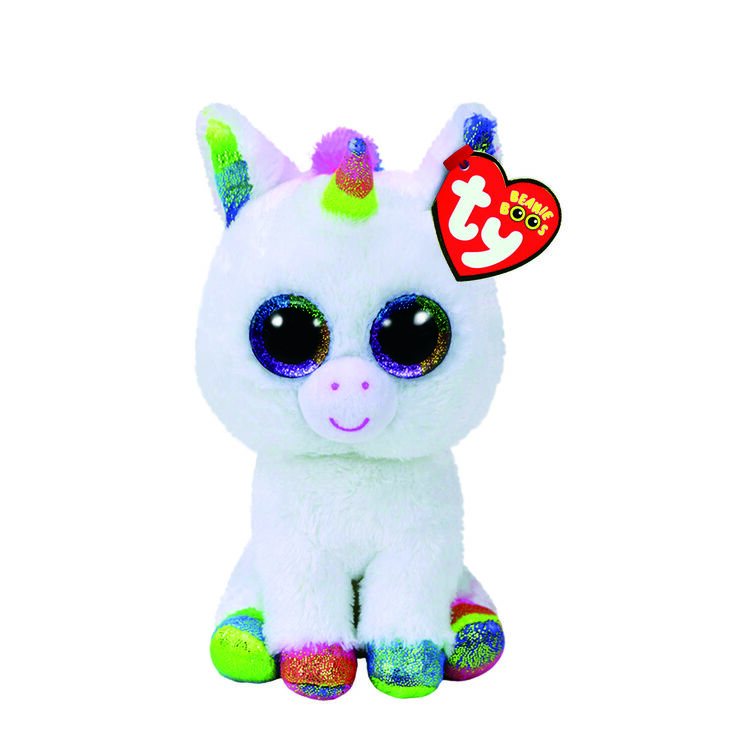 ty beanie boos small pixy the unicorn plush toy claire 39 s us. Black Bedroom Furniture Sets. Home Design Ideas