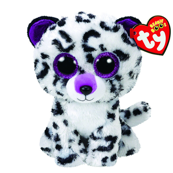 Ty Beanie Boo Medium Violet The Leopard Plush Toy Claire