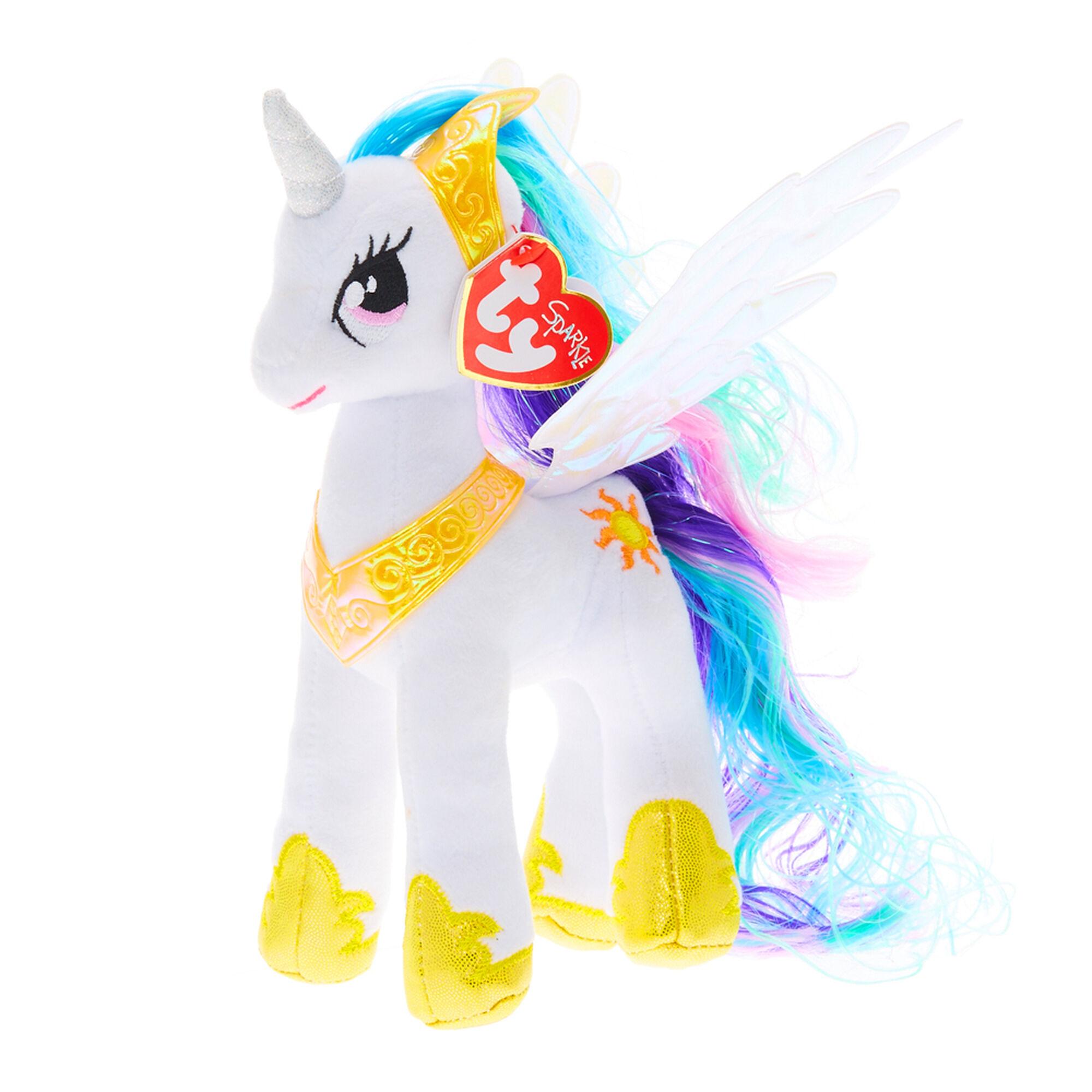 ty my little pony small princess celestia soft toy