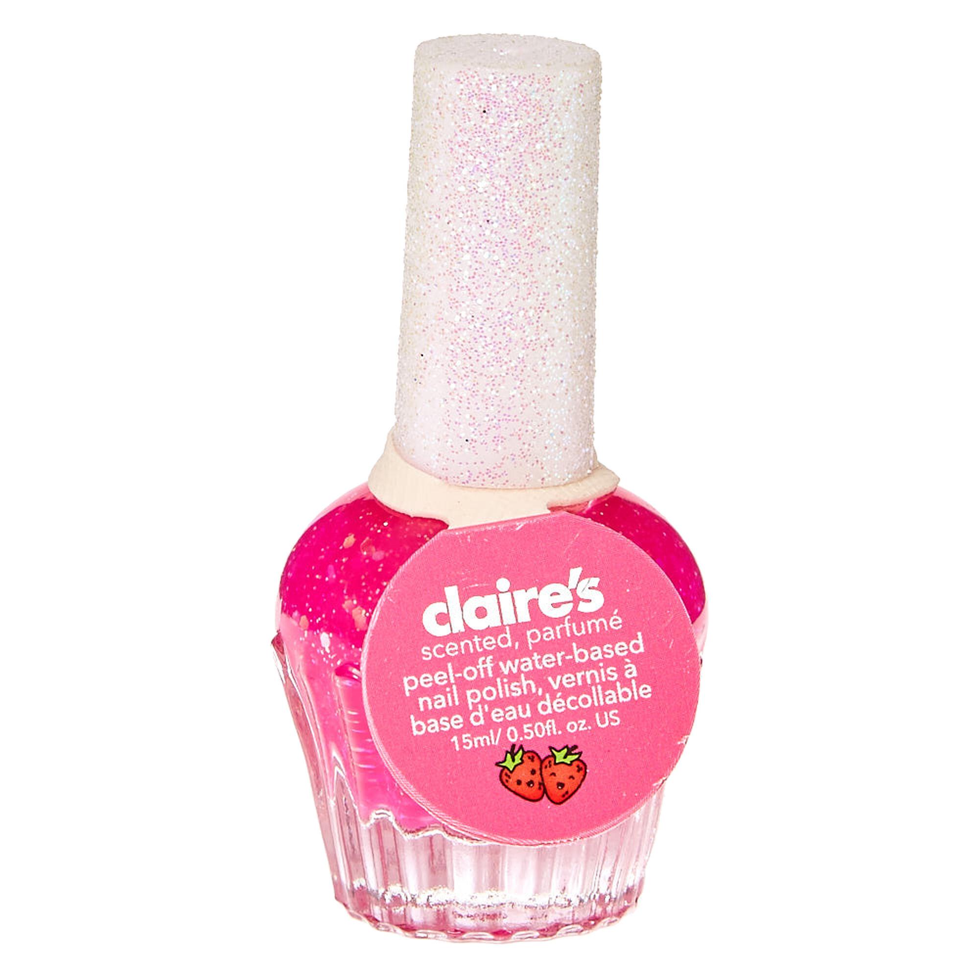 Popular fashion nails uxbridge - Strawberry Scented Hot Pink Nail Polish