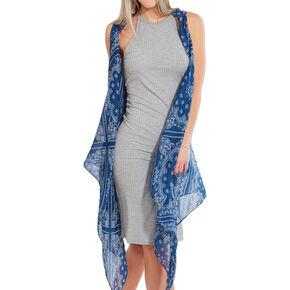 Blue Bandana Print Kimono,