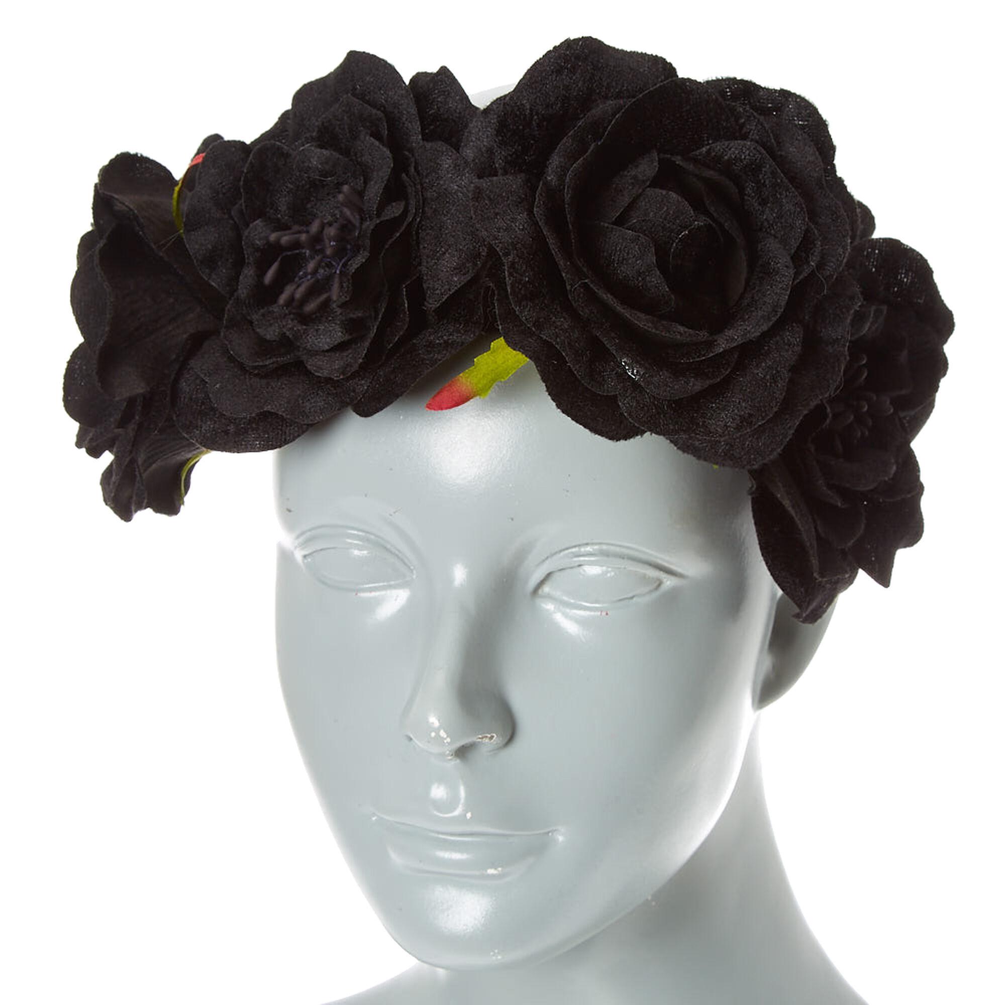 Black Flower Crown Gothic Flower Crown Black Flower: Black Velvet Flower Crown