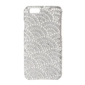 Scalloped Rhinestone and Pearl Phone Cover,