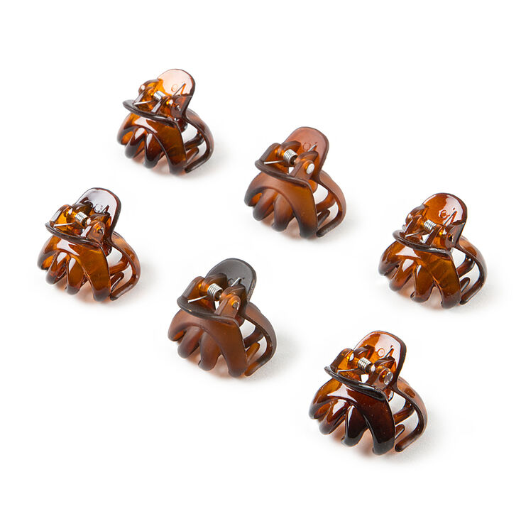 Mini Shiny and Matte Oval Claw Clips Set of 6,