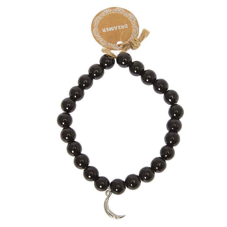 Black Beaded Dreamer Bracelet,