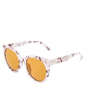 Round Marble Print Sunglasses,