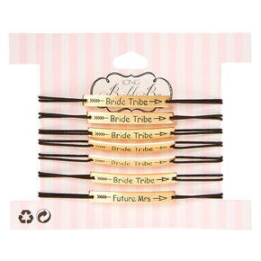 7 Pk Bride Tribe Double Stretch Bracelet Set,