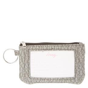Silver Keyring Wallet,