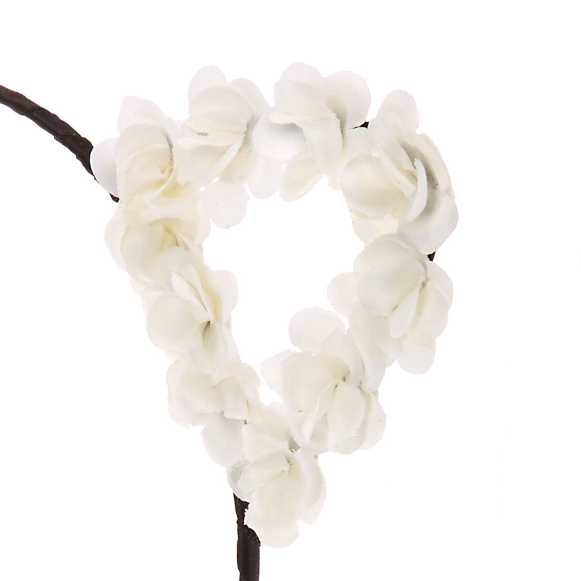 white flower cat ears black headband s us
