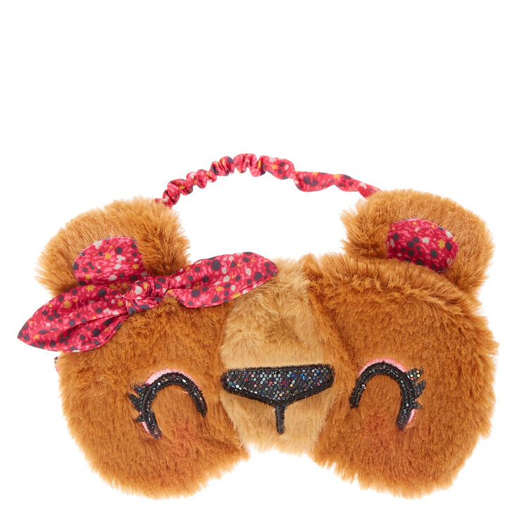 Pink Bow Bear Sleep Mask Claire S Us