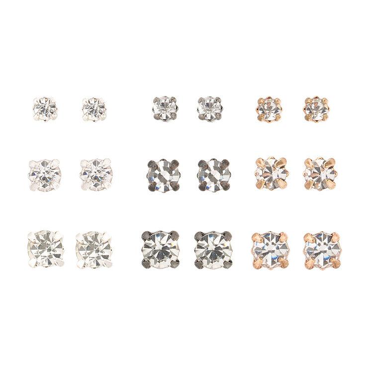 Simple Stud Earrings Set,