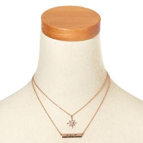 It's Lit Bar Necklace Set,