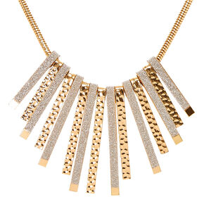 Glitter Glam & Gold Statement Necklace,