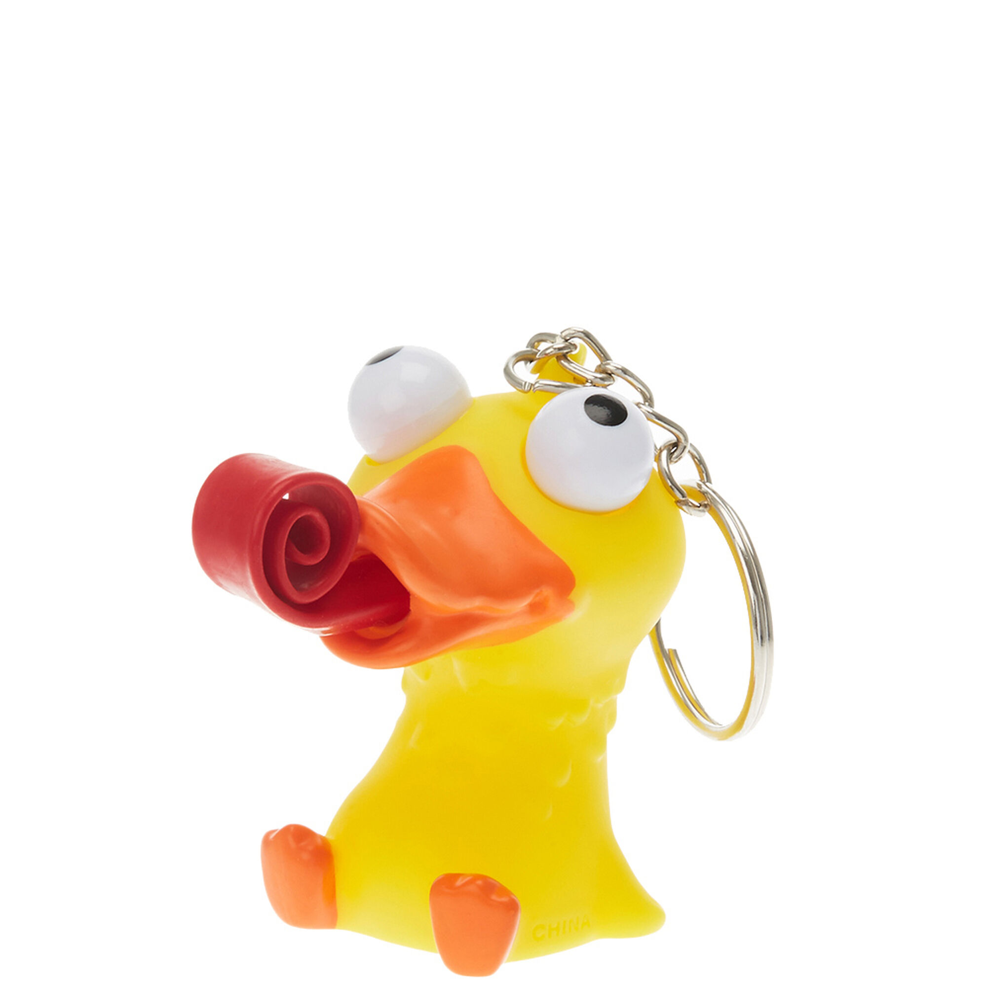rubber duck with popping tongue keychain claire u0027s us
