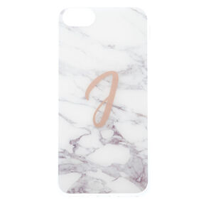 Marbled J Initial Phone Case,