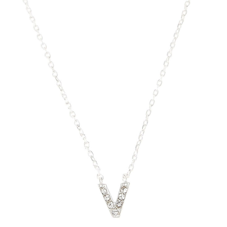 v pendant initial necklace s us