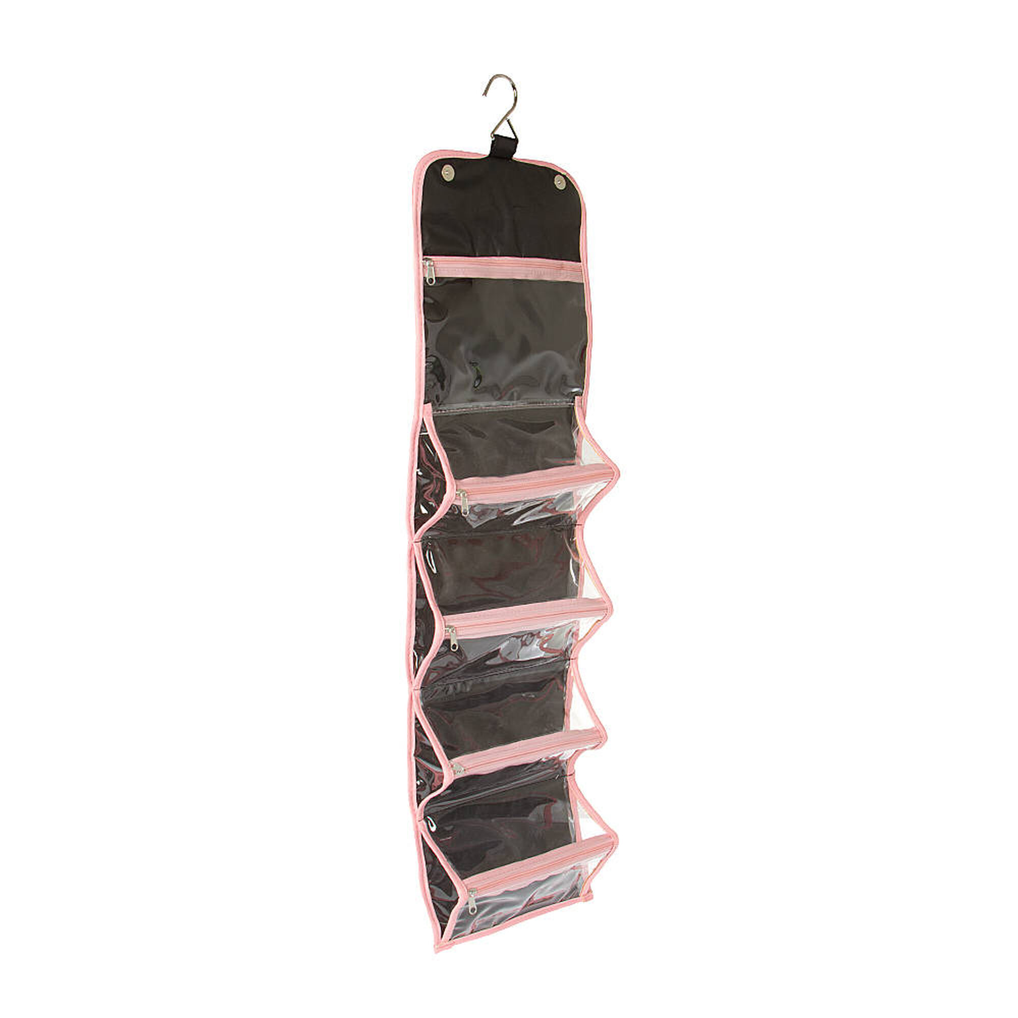 Black And Pink Roll Out Travel Train Case Claires