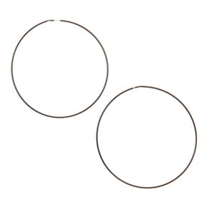 Black Wire 60mm Hoop Earrings,