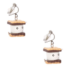 Smiling S'more Clip-on Drop Earrings,