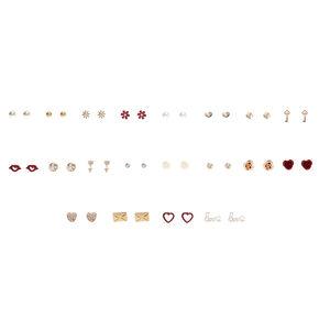Lots of Love Stud Earrings Set of 20,