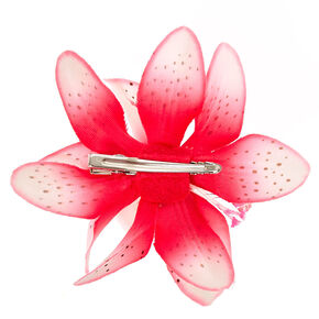 Pink Spotted Lilly Cluster Hair Clip,