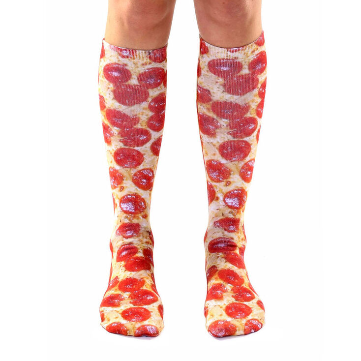 Living Royal Pepperoni Pizza Knee High Socks,