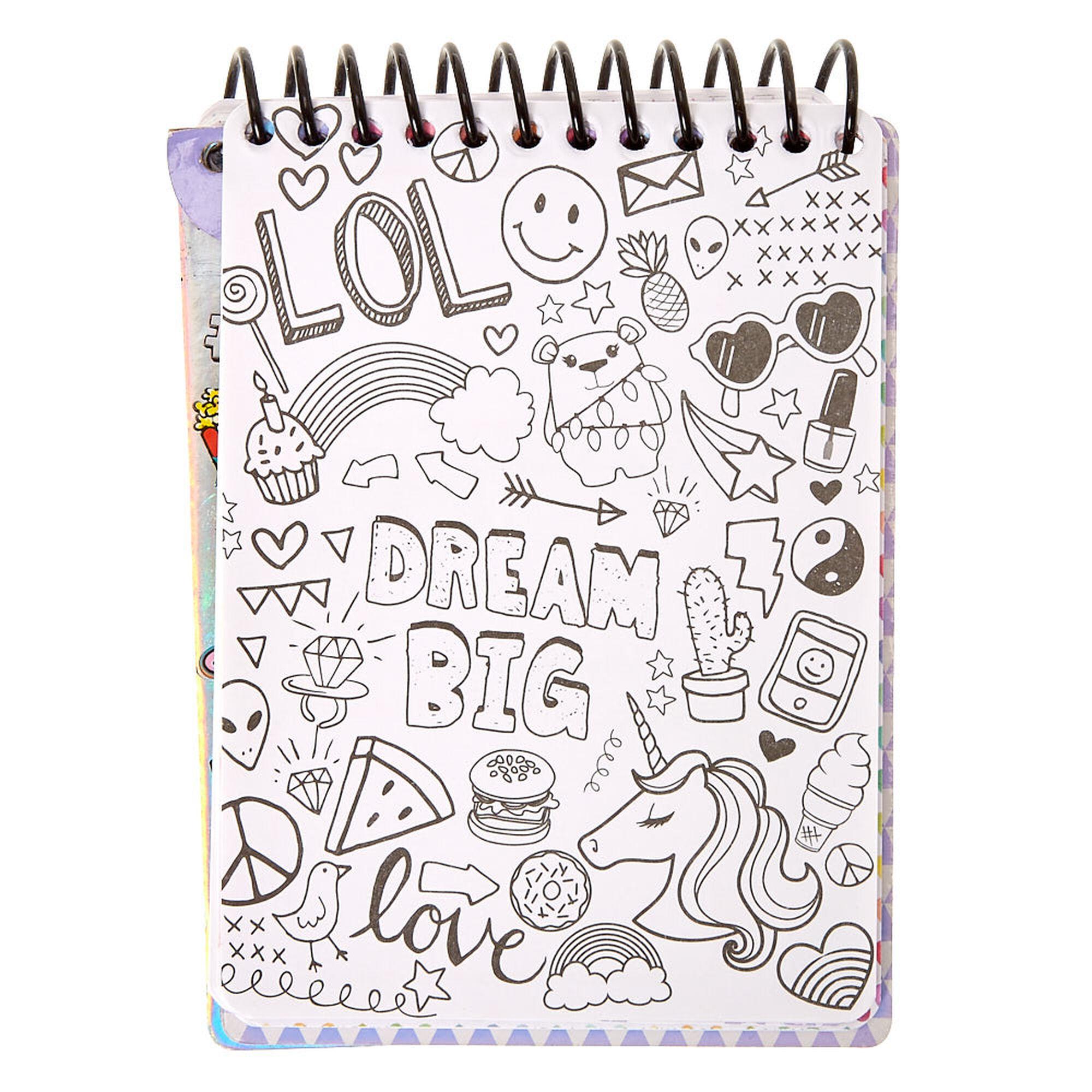 Let S Doodle Coloring Book Activity Set Claire S Us
