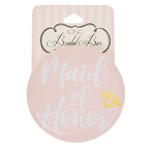 Blush Pink Maid Of Honor Button,