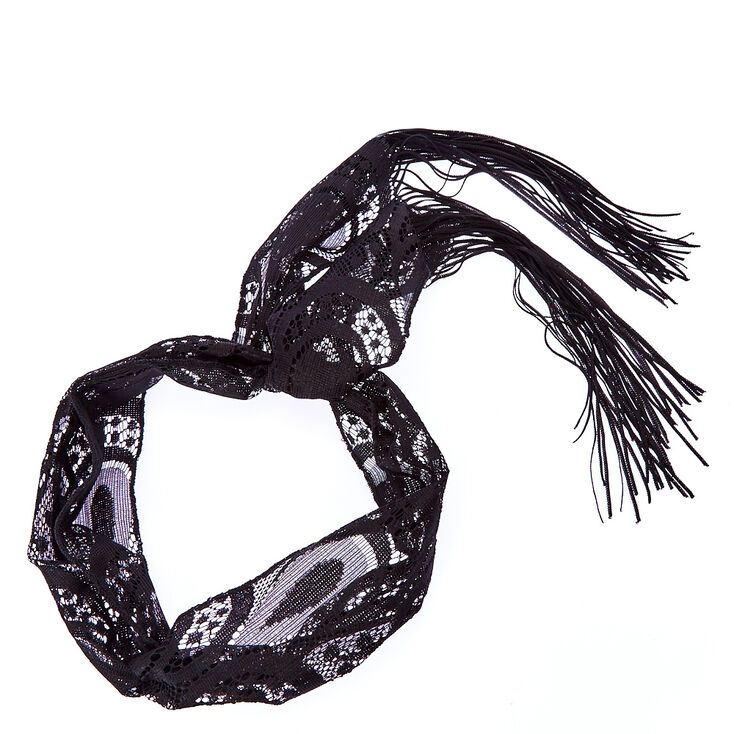 Black Lace Tassle Headscarf at Icing in Victor, NY   Tuggl