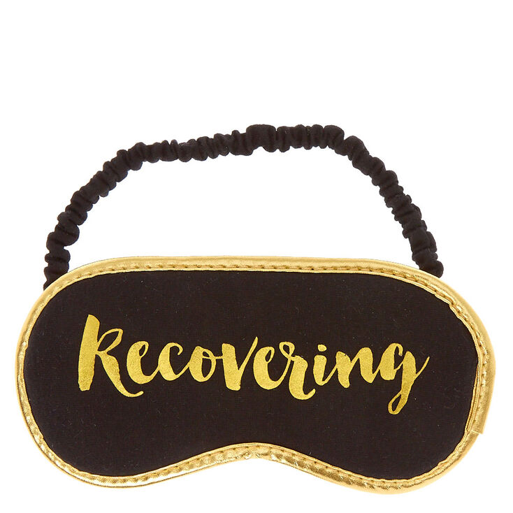 Recovering Gold and Black Sleeping Mask,