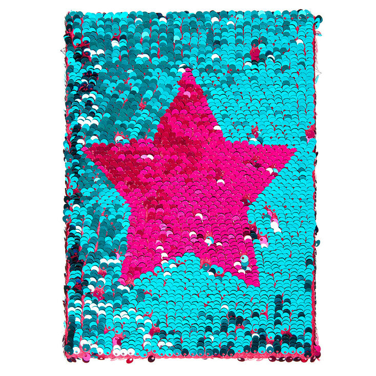 Reversible Pink And Mint Sequin Star Notebook Claire S