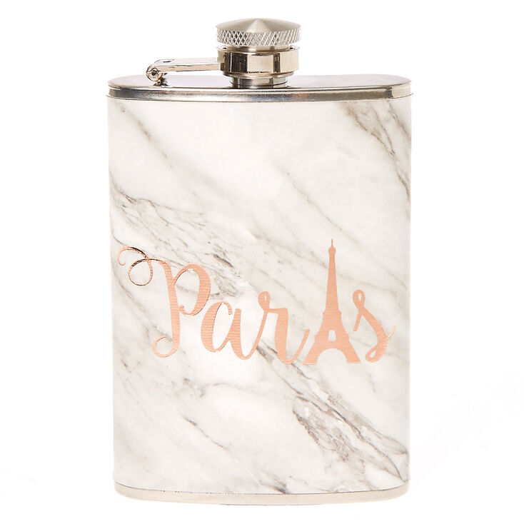 Paris Marble Print Flask,