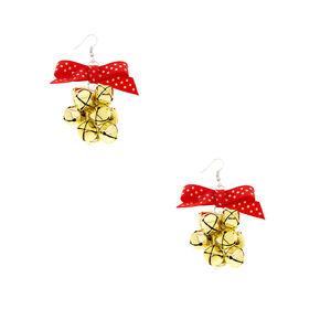 Gold Jingle Bells Bunch Earrings,